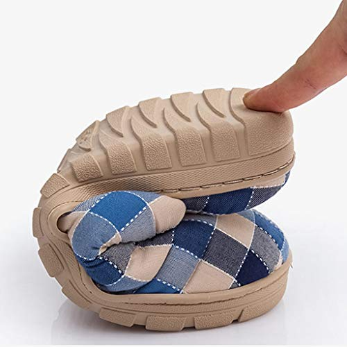 44EU Boden größe Day A AMINSHAP Comfort Paar Cotton Home Indoor Hautfreundlich Farbe Slippers Home Plaid Winter Hausschuhe 42 Home A Living Herren UURYA