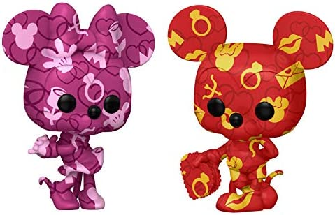 Funko Pop! Disney: Mickey and Minnie Mouse Artist Series (2 Pack) Amazon Exclusive