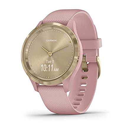 Garmin Vívomove 3S Sport - Reloj inteligente, color light gold y rosa