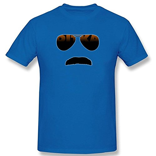 CEMMA Ditka Glasses and Stache T shirt Custom Short sleeve Blue - Glasses Ditka