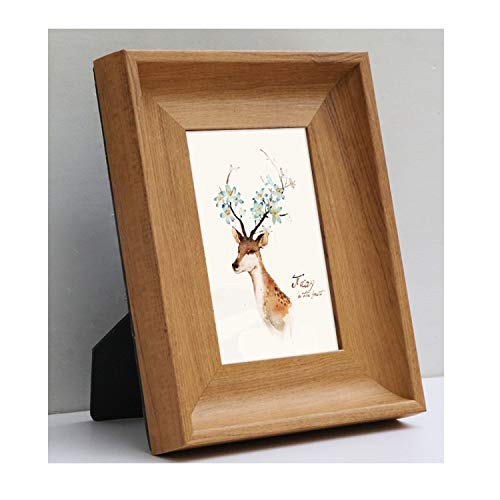Picture Frames for Home Decor Baby Foto Living Room Bedroom Photo Frame 4 Colors Desktop Ornament Hanging Wall Creative Gift,Nut-Brown,6 Inch 10.2X15.2Cm