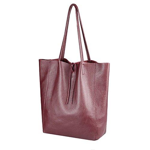 Only Beautiful Cm OBC Cm Borsa Couture donna a cm 36x40x12 BxHxT Bordo Rot ca mano 36x40x12 Rosso 36x40x12 dwqq1pUn5x