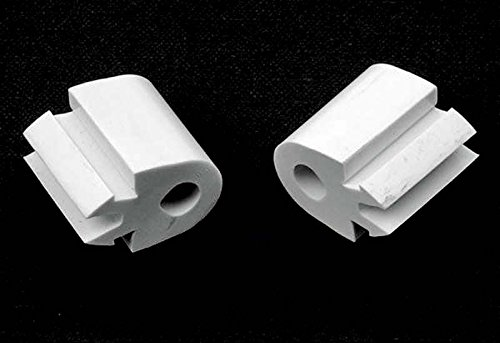 - Rubber Bed Frame Bracket Bumpers for Protecting Wall-Mounted Headboards, Set of 2