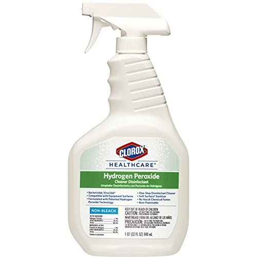 Clorox Healthcare Hydrogen Peroxide Cleaner Disinfectant Spray, 32 Ounces (30828)