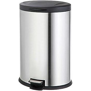 Amazon Com Stainless Steel Oval 40 Liter Pedal Trash Bin