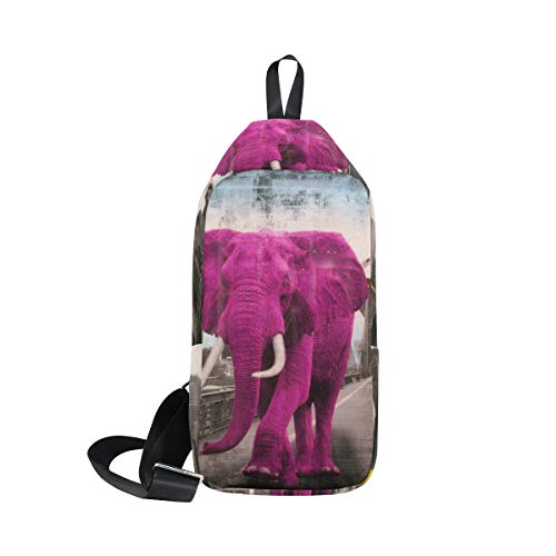 Bennigiry Sling Pink Elephant Shoulder Cross Chest Body Backpack Women amp; For Bag Waterproof Small Men rgrwxdTqt