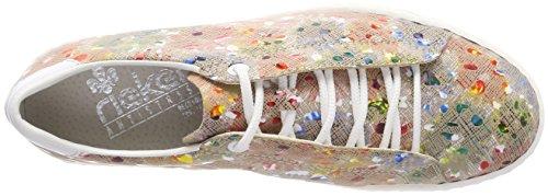 weiss M85b8 ginger Donna Derby Stringate Multicolore Scarpe Rieker multi zAqxw8BBd