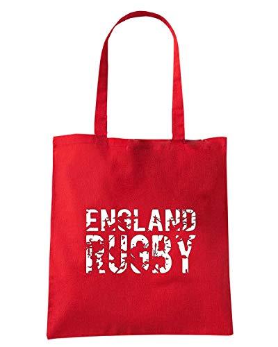 RUGBY Borsa ENGLAND Rossa TRUG0162 RUGGERSHIRTS Shirt LOGO 2 Shopper Speed Tq0BOw