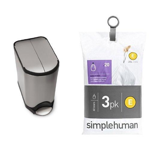 Amazon.com: Simplehuman Butterfly Paso de 20 litros puede ...
