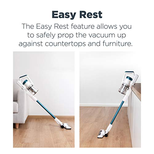 EUREKA RapidClean Pro Lightweight Cordless Vacuum Cleaner, High Efficiency Powerful Digital Motor LED Headlights, Convenient Stick and Handheld Vac, Essential, White