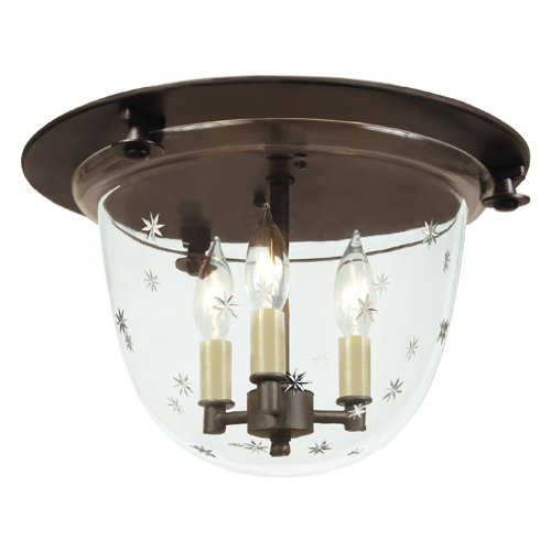 JVI Designs 1158-08 Classic Flush Mount Bell Lantern with Tiny Star Glass
