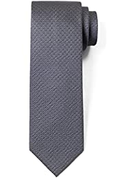 100% Silk Textured Solid Color Men's Skinny Tie 3'' Necktie