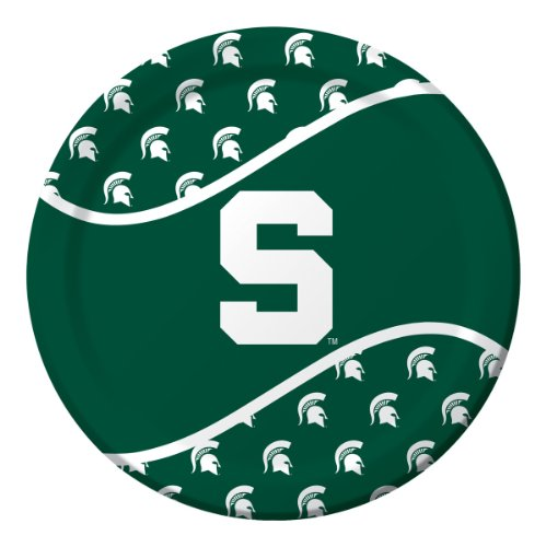 Michigan State Spartans Dinner Paper Plates, 8-Count