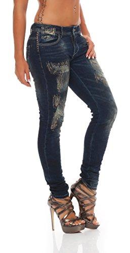 Femme Skinny Bleu Blue Jeans Monkey Pqft606zw