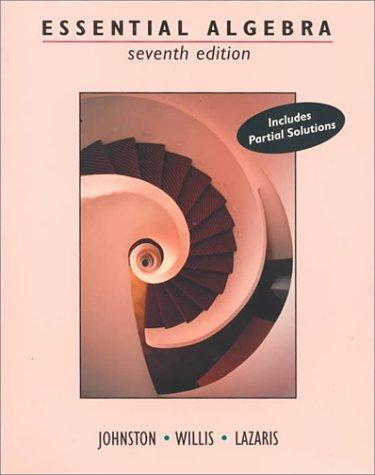 Murphy Outlet Johnston (Cengage Advantage Books: Essential Algebra (The Johnston-Willis Series))