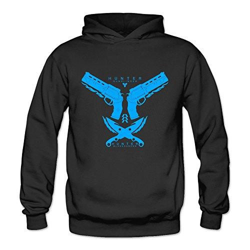 [TIKE Women's Hunter Gunslinger Bladedancer LOGO Hoodie Sweatshirt Color Black Size XXL] (Woman Gunslinger Costume)