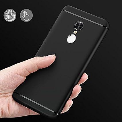best website 85239 6dd5f Xiaomi Redmi Note 4 Cover Soft Case Back Silicon Black: Amazon.in ...