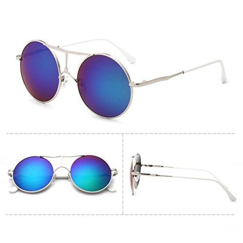 Sunglasses Color sol personalizadas gafas B sol Gafas Retro mujer A redondas X4 de para de QQB Gafas Trend RZqwO
