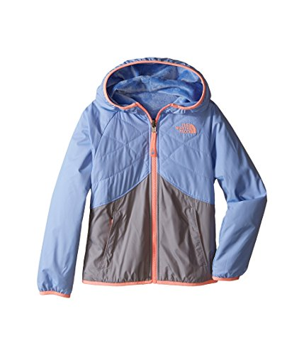 The North Face Kids Girl's Reversible Breezeway Wind Jacket (Little Kids/Big Kids) Collar Blue (North Face Windwall 2 Jacket)