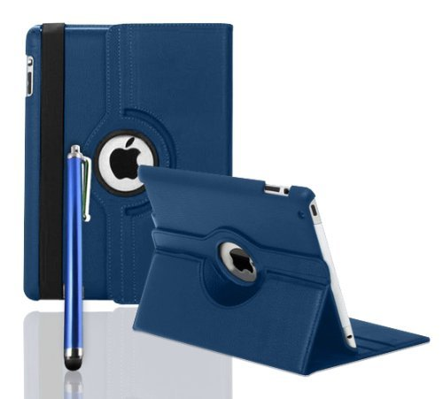 Scheam Wallet Case, [Folio Style ] Premium Card Cases STAND Feature for [Dark Blue ] Luxury Flip Cover with Luxury