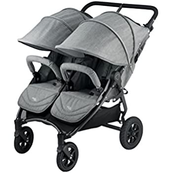 Valco Baby Neo Twin Double Lightweight All Terrain Stroller (Grey Marle)