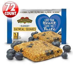 Corazonas™ Heart Healthy Blueberry Oatmeal Squares 72-count 6 - 12-packs, 1.76 Oz. Squares