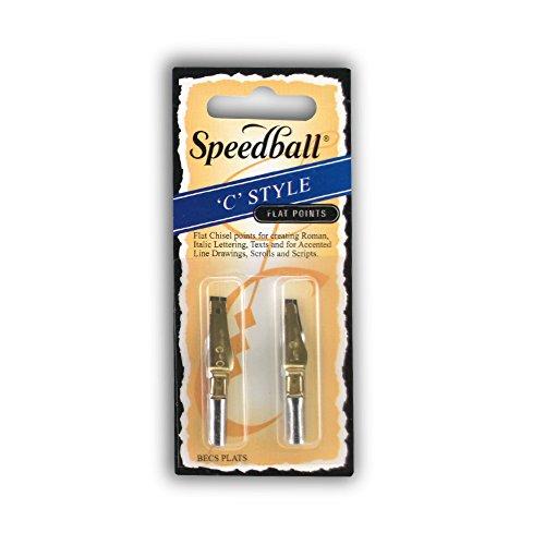 Speedball Flat Pen Nibs C-0, C-1 pack of 2
