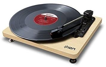 Ion it68 compacto LP madera tocadiscos USB negro: Amazon.es ...