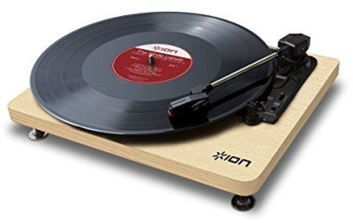 ION Audio Compact LP | Space-Efficient 3-Speed USB Conversion Turntable (Wood-Grain Finish)