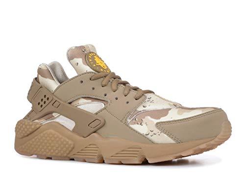Nike Men's Air Huarache Run Desert Ore/Canteen/Laser Orange AT6156-200 (Size: 9) (Sneakers Gold Huarache)