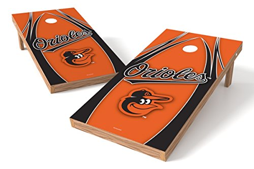 (Wild Sports MLB Baltimore Orioles V Design Tailgate Toss XL with Shield, Multi, 48