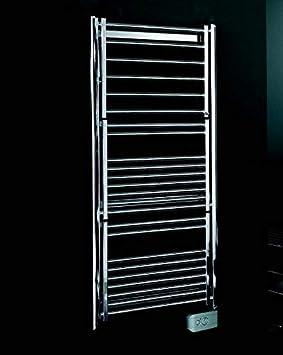 KOH-I-NOOR 44041KK - Radiador, calienta toallas y secador de ropa con 3 estantes de difusores extensibles MULTI Eléctrico. Acabado cromado.