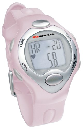 Bowflex Fit Watch 10S Strapless Heart Rate Monitor Watch with Calorie Counter (Pink)