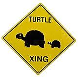 Turtle Crossing Xing Metal Tin Funny Road Sign