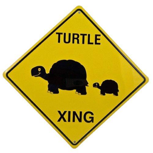 Turtle Crossing Xing Metal Tin Funny Road - The Crossing Mall