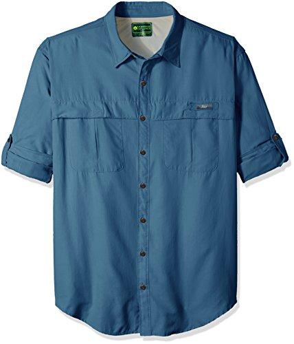 G.H. Bass & Co. Men's Big and Tall Explorer Survivor Long Sleeve Point Collar Fishing Shirt