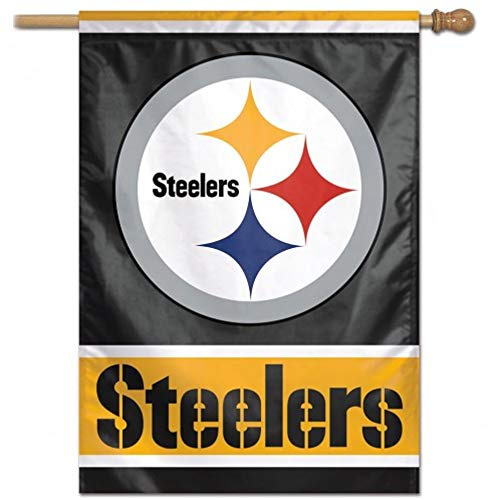 NFL Pittsburgh Steelers Flag 27x37 Vertical House Banner Pole Sleeve New for 2014