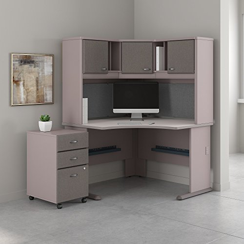 Bush Business Furniture Series A 48W Corner Desk with Hutch and Mobile File ()