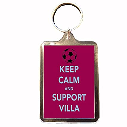 Amazon.com: Aston Villa F.C diseño de Keep Calm Llavero ...