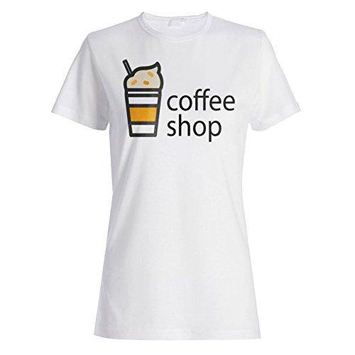Neue Kaffeetasse Heißes Getränk Damen T-shirt m132f