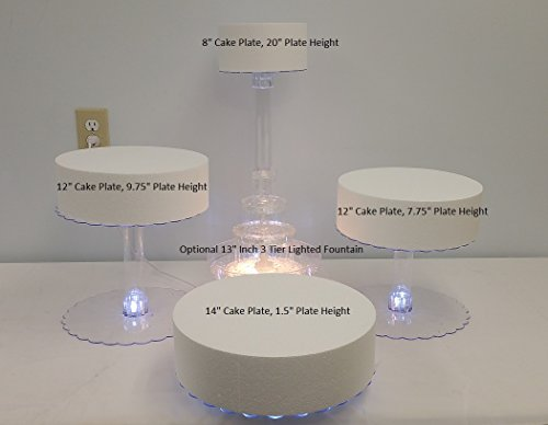 Multi Tier Cake Stand. Multi Tier Wedding Cake Stand with LED Lights ...