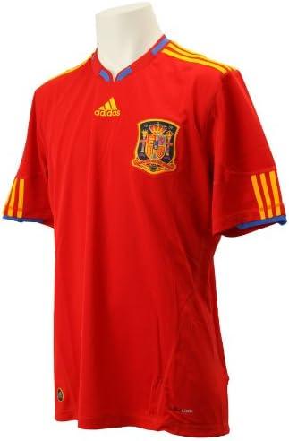 adidas – Camiseta de fútbol selección España FEF Away hogar Rojo/Oro, fútbol, Hombre, Color Rojo/Dorado, tamaño Medium: Amazon.es: Ropa y accesorios