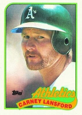 1989 Topps 47 Carney Lansford Oakland Athletics Baseball