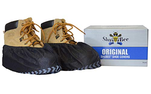 ShuBee Original Shoe Covers, Black (50 Pair)