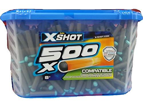 Gray Darts - Zuru X-Shot 500-Count Dart Refill Pack Universally Compatible Gray