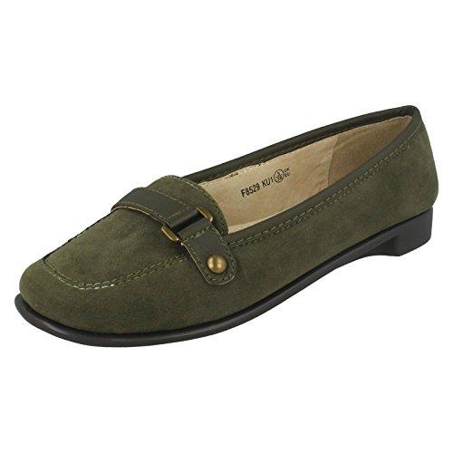 Spot on Damen Durchgängies Plateau Sandalen mit Keilabsatz Khaki (Green)