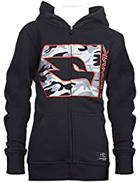 Kids Boys Fleece Front Zip Hoodie With Camouflage and Embroidery (See More Colors and Sizes)