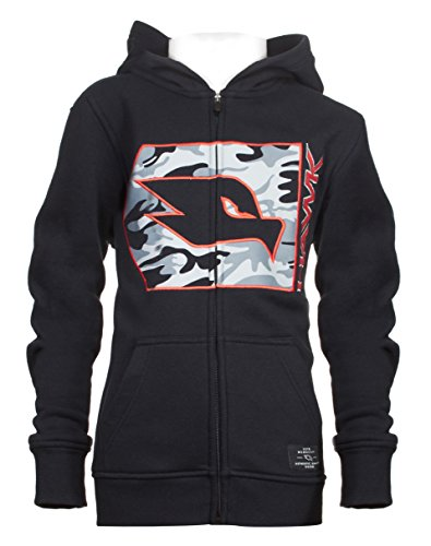 - Tony Hawk Kids Boys Fleece Front Zip Hoodie with Camouflage and Embroidery School Clothes Black Size 10/12