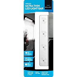 Brilliant Evolution BRRC116 Wireless Ultra Thin LED Light Bar - Operates On 3 AA Batteries - Kitchen Under Cabinet Lighting