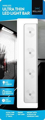 Brilliant Evolution BRRC116 Wireless Ultra Thin LED Light Bar | Battery Operated Lights | Kitchen Under Cabinet Lighting | Closet Light |Touch Light |Stick On Lights | Push Light | Wireless Light